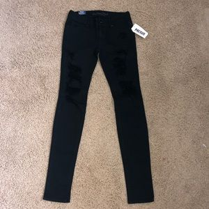 size 3 Black ripped jeans from PacSun